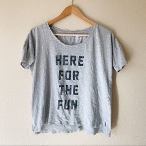 Here for the fun boyfriend tee